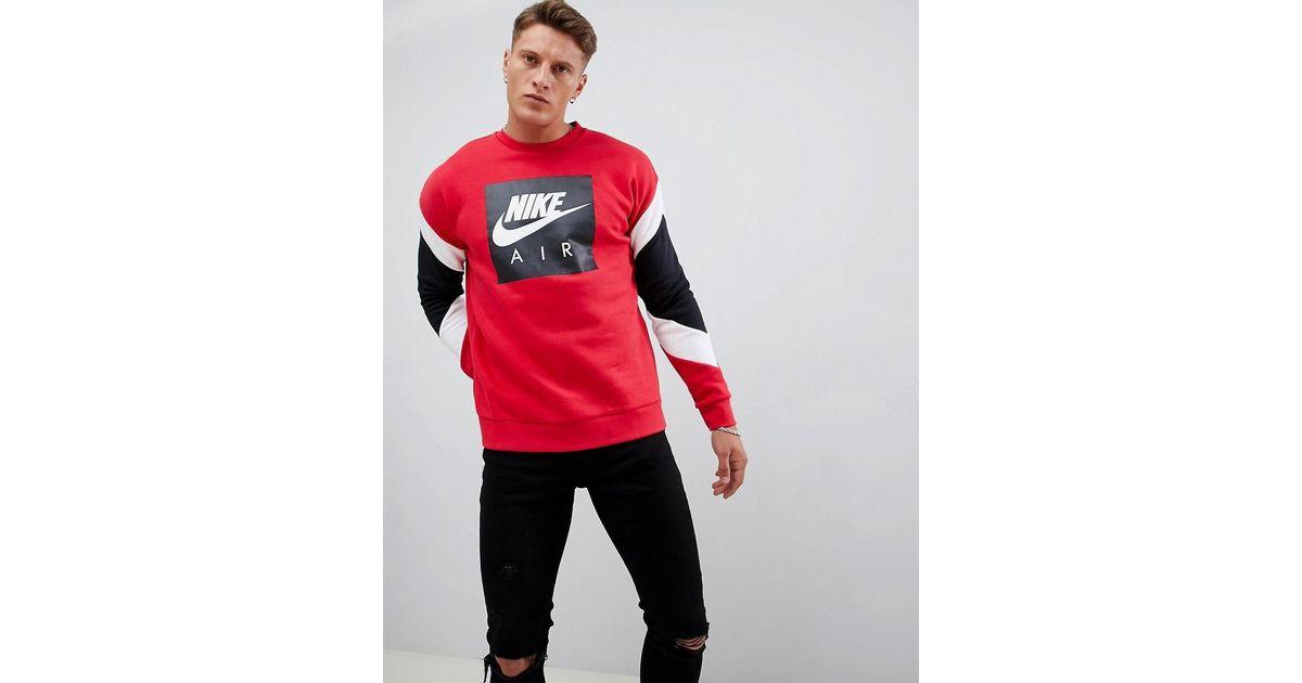 Hombre 687 Roja Nike Color De Air 928635 Lyst Sudadera Rojo wq46OO a02a98338d162