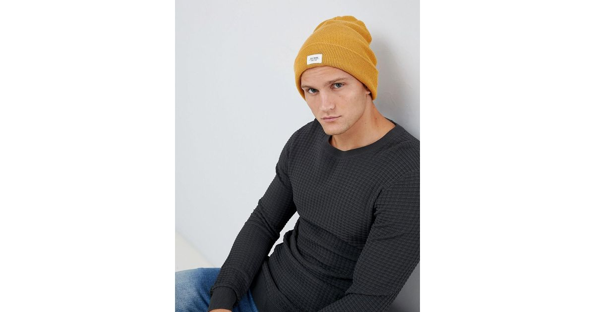 ff9ed8f9211 Lyst - Esprit Turn Up Beanie In Mustard in Yellow for Men