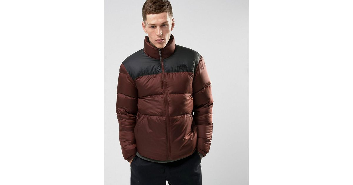 Lyst - The North Face Nuptse3 2 Tone Down Jacket In Red black in Red for Men ed6e423df