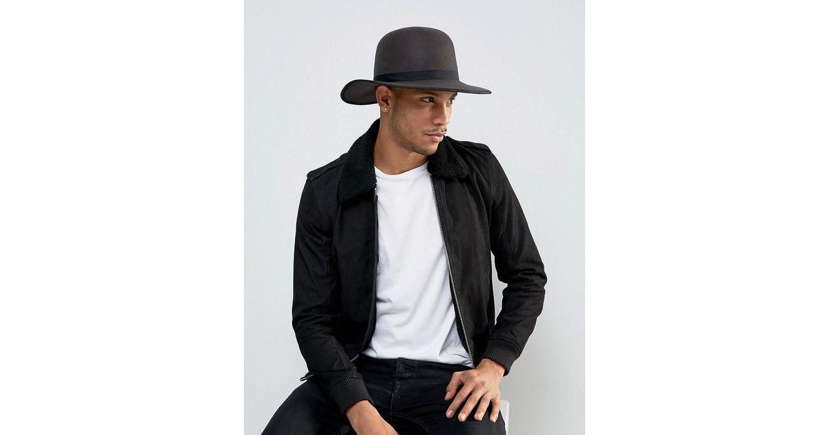 Lyst Brixton Sonoma Hat With Wide Brim In Gray For Men. Brixton Colton  Black Hat 33cca813c64e