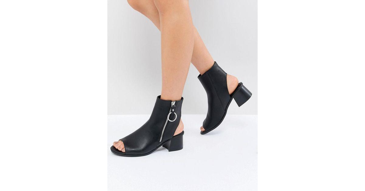 ASOS DESIGN Raven Zip Shoe Boots