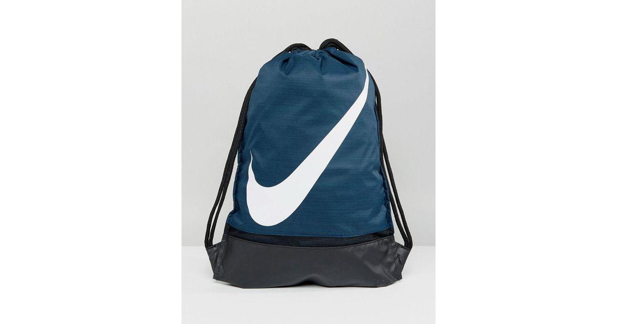 Nike Nike Swoosh Gym Sack In Navy Ba5424-454 in Blue for Men - Lyst 56f328abb5