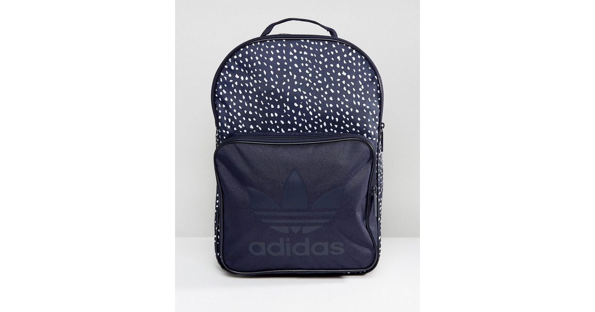Lyst - adidas Originals Graphic Backpack In Blue Ab3889 in Blue for Men 0152cc4404f04