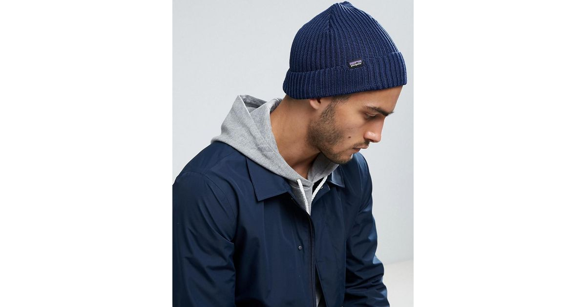 566f630b Patagonia Fishermans Rolled Beanie In Navy in Blue for Men - Lyst
