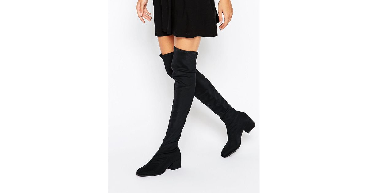 9ec55a51e77 Vagabond Daisy Over The Knee Boots - Black Textile in Black - Lyst