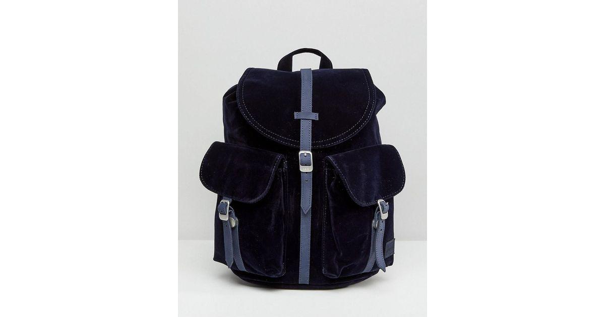 76e5e977858 Lyst - Herschel Supply Co. Herschel Dawson Navy Velvet Backpack in Blue