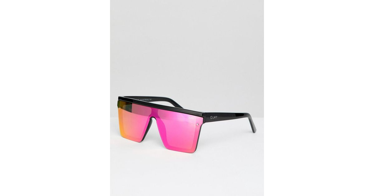 28fe1b56081 Lyst - Quay Hindsight Square Sunglasses In Black   Pink in Pink for Men