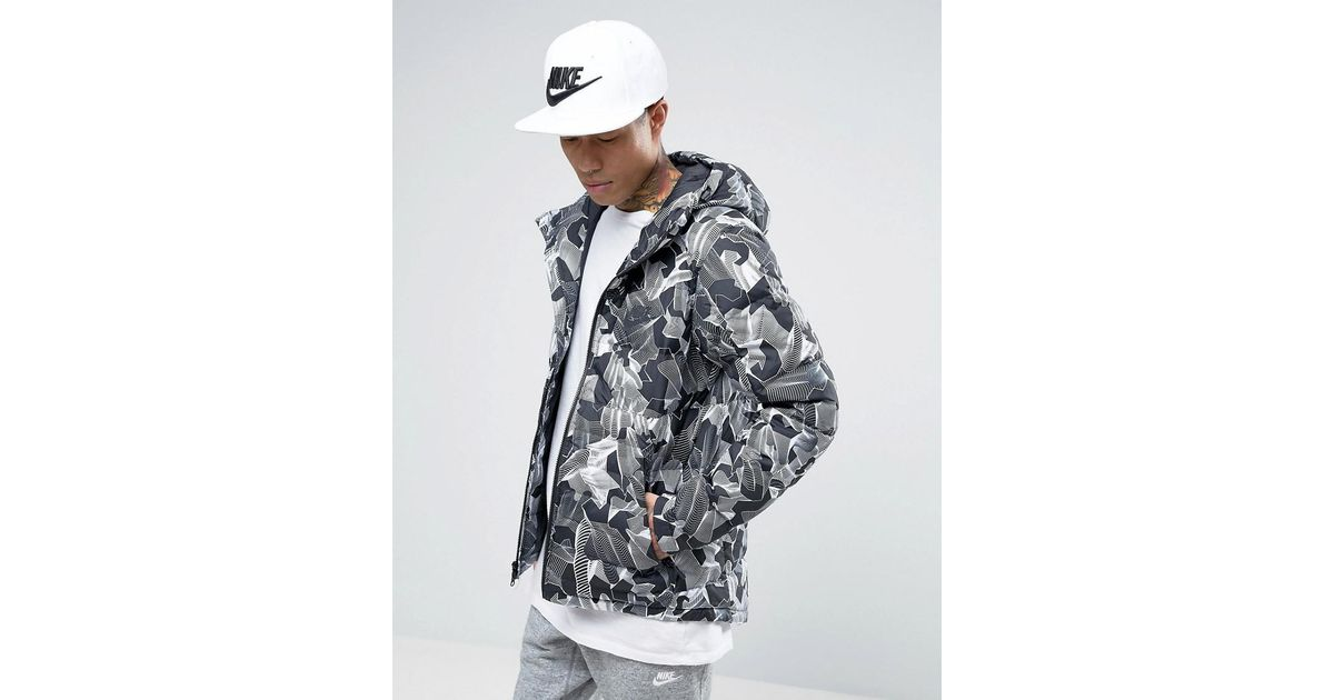 79a0e74367b1 Nike Padded Jacket With Hood In Grey 806857-100 in Gray for Men - Lyst