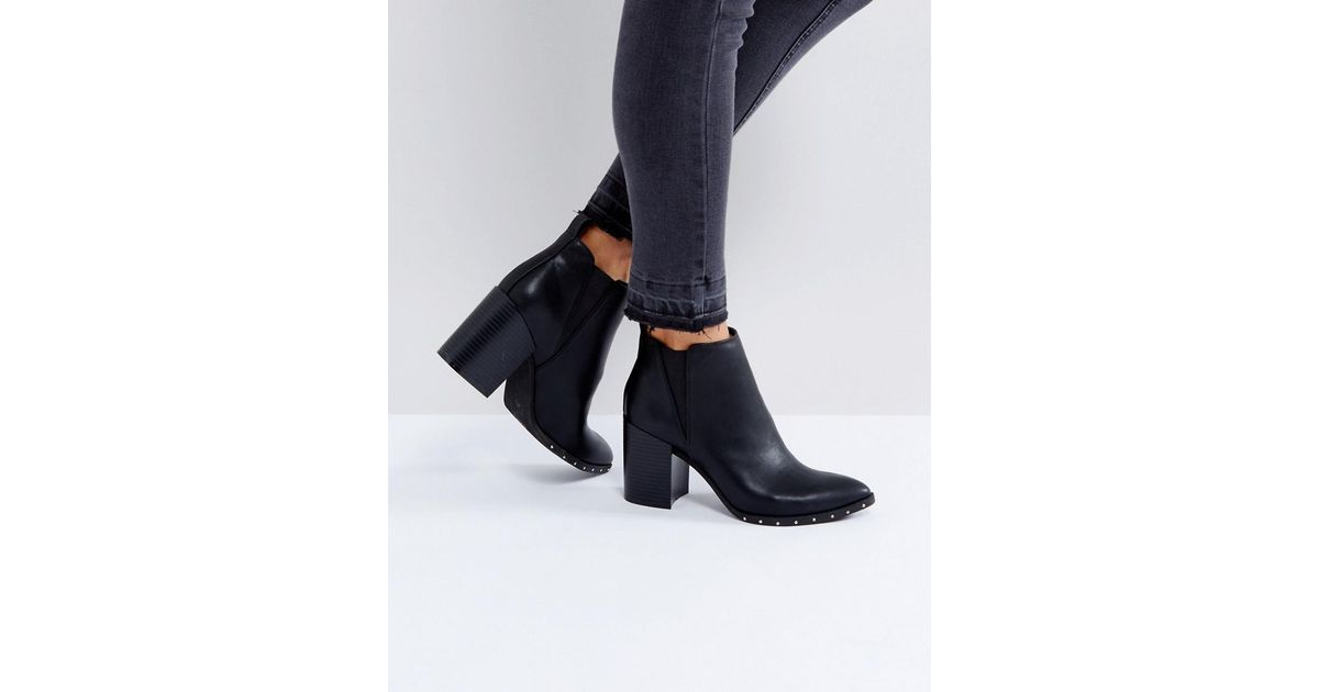 Office Isabella Studded Heeled Ankle Boots in Black - Lyst 3f6648007961