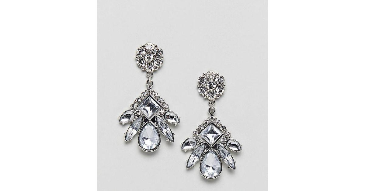 Embellished Drop Studs - Silver True Decadence y2KCYJNyT6