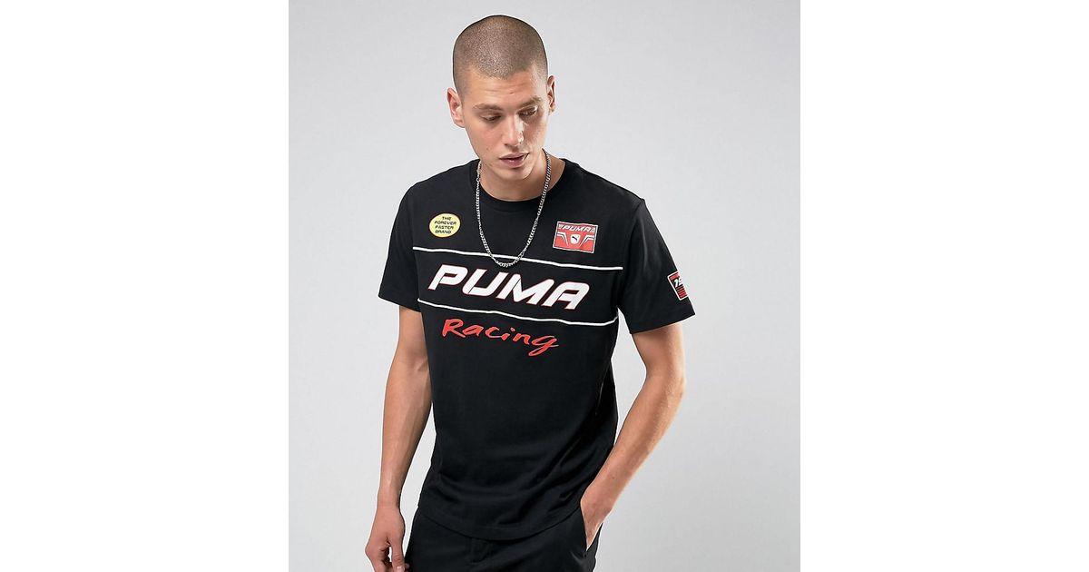 bc8d0340341 PUMA Moto Racing Print T-shirt Exclusive To Asos in Black for Men - Lyst