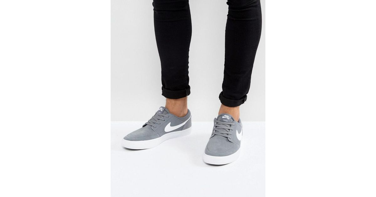 newest collection 68122 8173b Nike Portmore Ii Ss Trainers In Grey 880266-010 in Gray for Men - Lyst