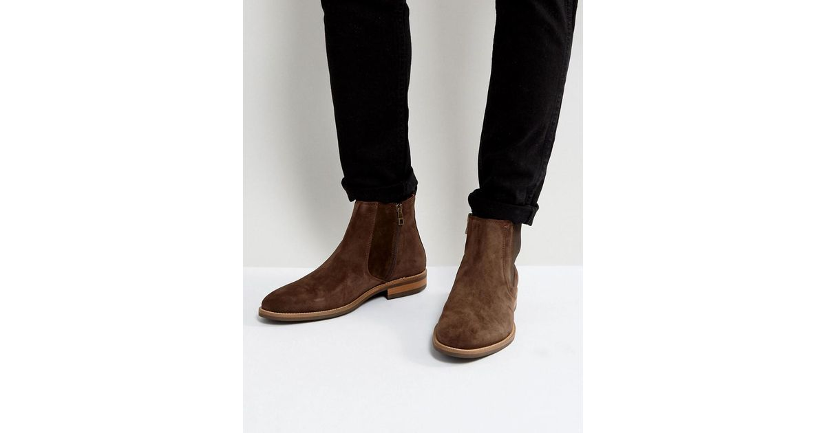 2fb53400898a lyst – tommy hilfiger daytona chelsea boots suede in brown in brown.  Download Image 1200 X 630