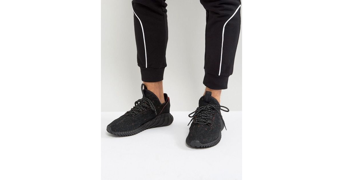 25b4836ec adidas Originals Tubular Doom Sock Primeknit Sneakers In Black By3559 in  Black for Men - Lyst
