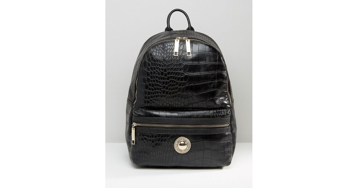 c907353c2f5 Lyst - Versace Jeans Large Croc Backpack - Black E899 in Black