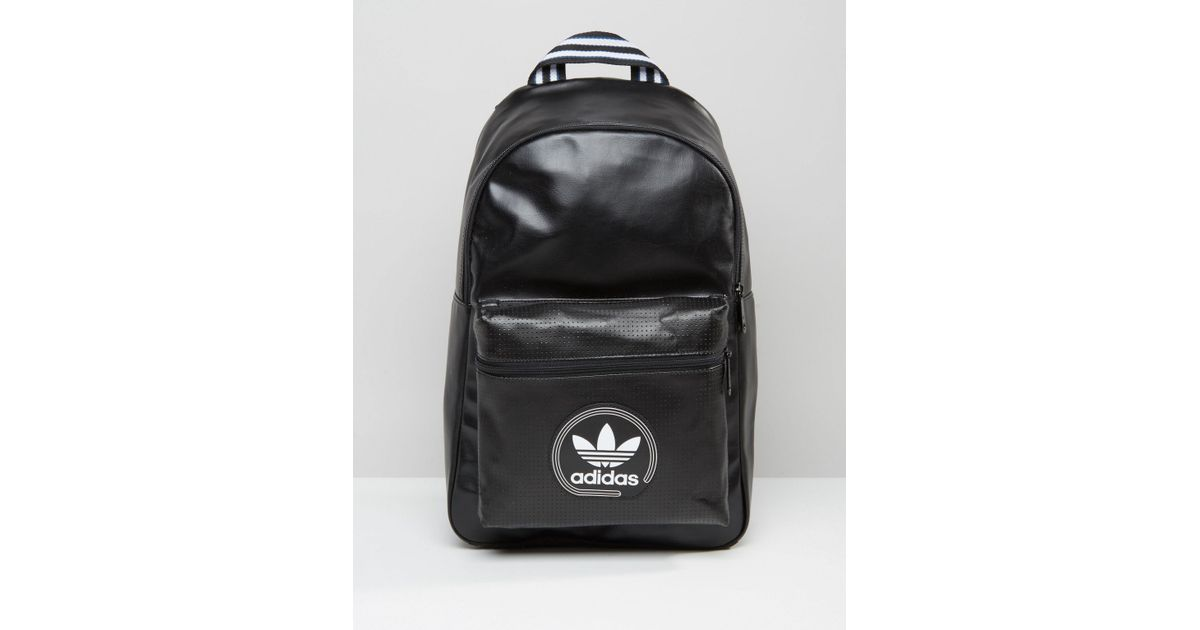 4f7e78ed0c58 Lyst - adidas Originals Perforated Backpack In Black Ay7744 in Black for Men