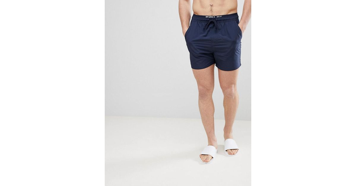 6b3277a0e4 French Connection Fcuk Swim Shorts in Blue for Men - Lyst