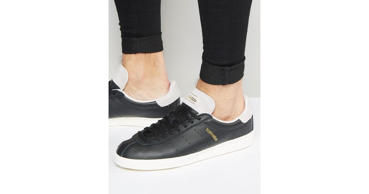 purchase cheap b0d89 afa37 adidas Originals Topanga Clean Trainers In Black S80073 in Black for Men -  Lyst