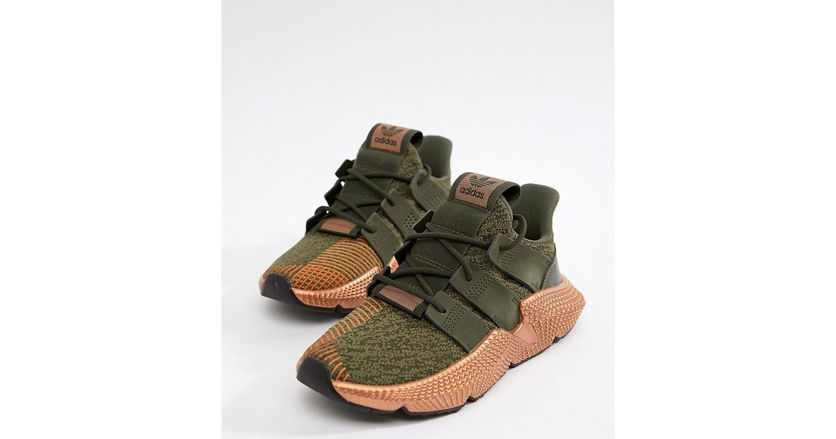 reputable site 3cd0a f1f28 adidas Originals Prophere Sneakers In Khaki And Copper in Black - Lyst