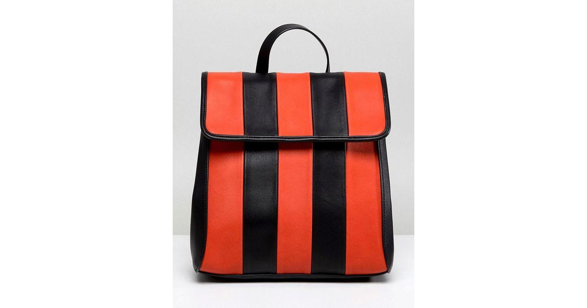 DESIGN chunky stripe minimal backpack - Multi Asos Mrotg4yU7