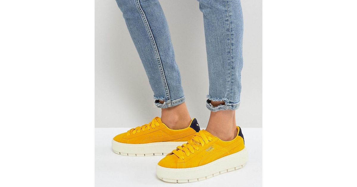 PUMA Platform Trace Trainers In Yellow in Yellow - Lyst 190e9476d