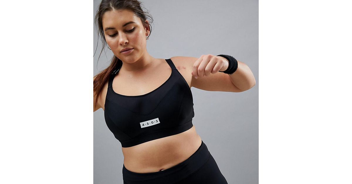 64d6fed4d423c Asos 4505 Curve Moulded Sports Bra With Underwire in Black - Lyst