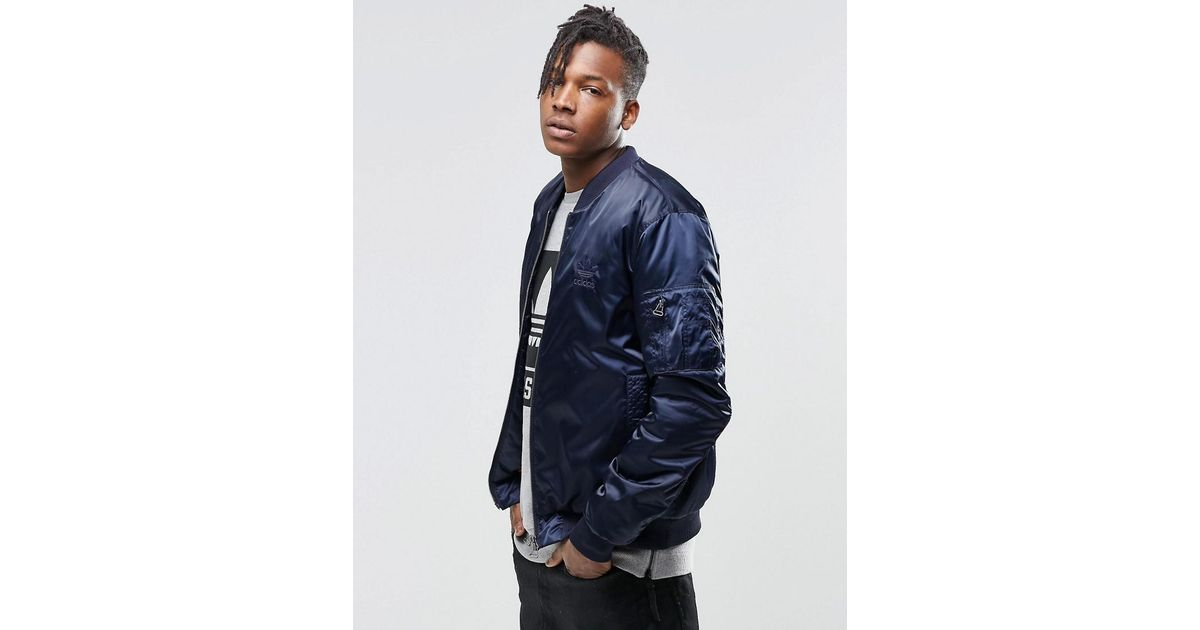 a9074a6a3c48 Lyst - adidas Originals Superstar Ma1 Bomber Jacket Ay9150 in Blue for Men