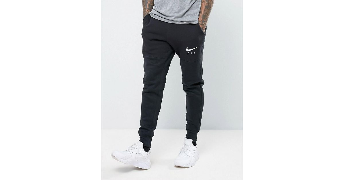 Nike Air Joggers In Tapered Fit In Black 832152 010 for men
