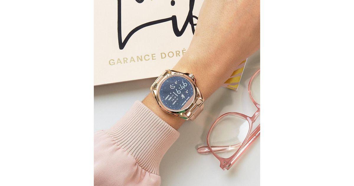b0399d86c4d3 Michael Kors Mkt5004 Access Rose Gold Bradshaw Smart Watch in Metallic -  Lyst