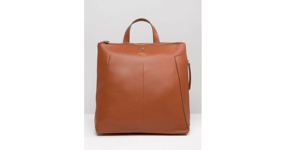 Lyst - Fiorelli Finley Casual Zip Top Backpack in Brown