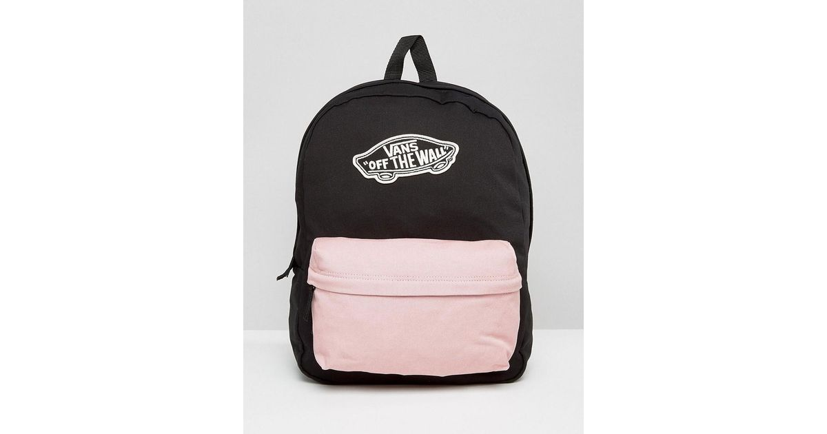 b7a9ae2fe0 Vans Contrast Pocket Realm Backpack in Black - Lyst