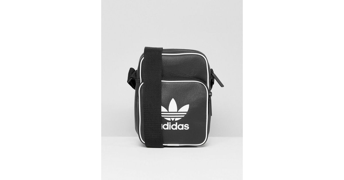 46b041f04db4 Lyst - adidas Originals Retro Flight Bag In Black Bk2132 in Black for Men