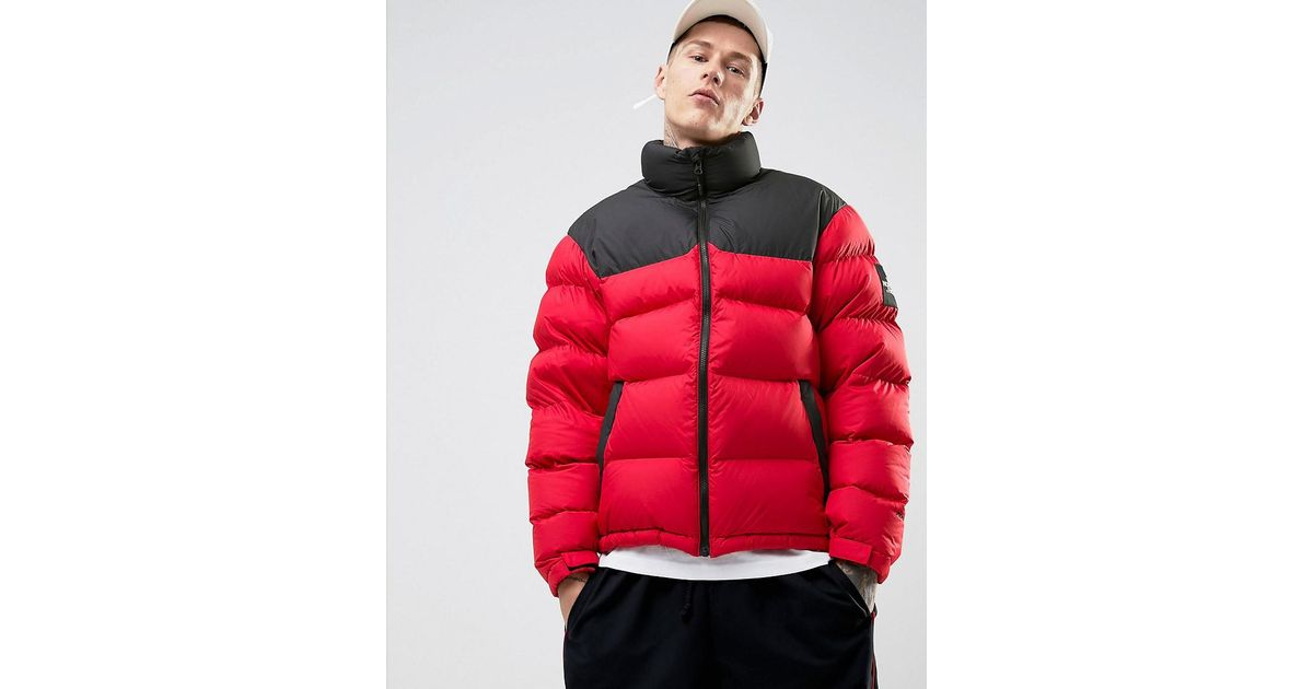 ... switzerland lyst the north face 1992 nuptse down jacket 2 tone in red  black in red c7fe21821