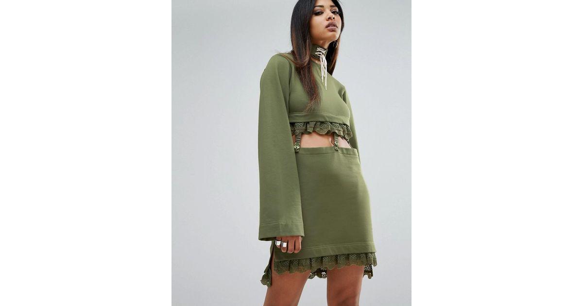 Green Porte Jarretelles Manches Kimono À Robe Lyst Puma PkZiOTuX