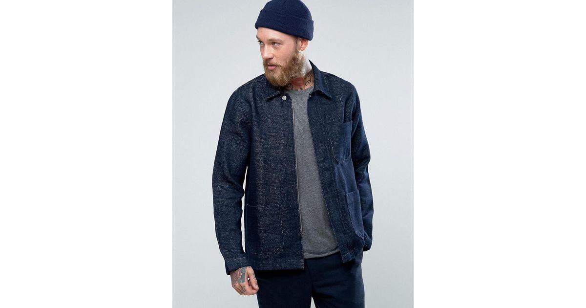 9aff1731d19c Weekday Refined Denim Jacket Carbonated in Blue for Men - Lyst