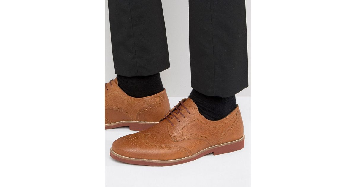 Free Shipping Finishline Cheap Online Store Derby Shoes In Milled Brown Leather - Brown Redtape 2oxxlzJzFi