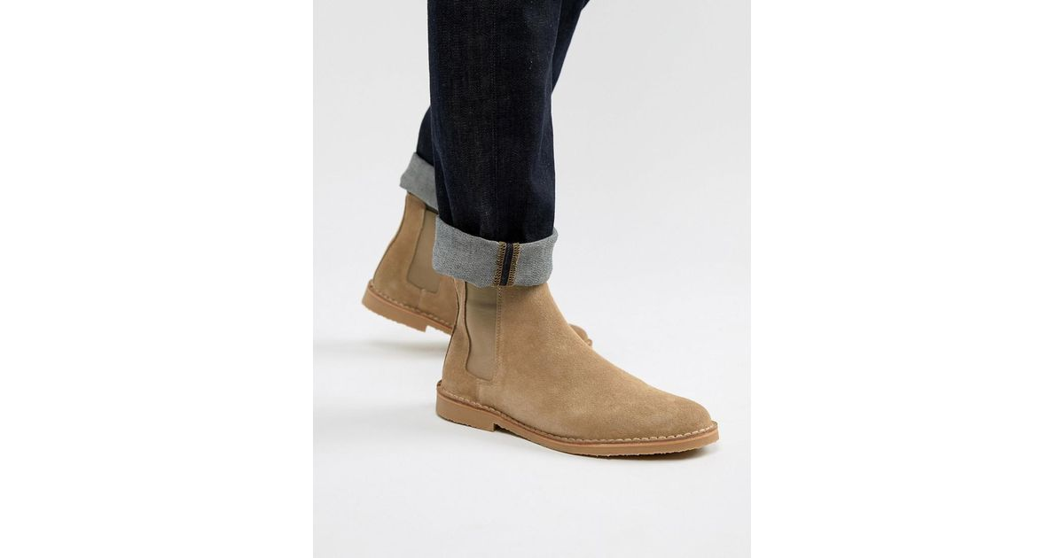 a5e6db588ca3d8 Office Iberian Chelsea Boots In Beige Suede in Natural for Men - Lyst