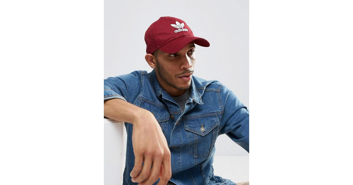 e6660109aa07a adidas Originals Trefoil Cap In Red Cd8804 in Red for Men - Lyst