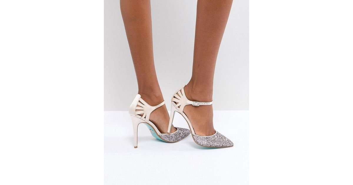 9cea972c7cc Betsey Johnson Blue By Betsy Johnson Blush Avery Heeled Wedding Shoes in  Pink - Lyst