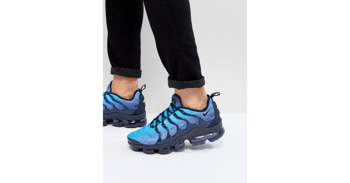 2245edc31545cf Nike Air Vapormax Plus Trainers In Blue 924453-401 in Blue for Men - Lyst