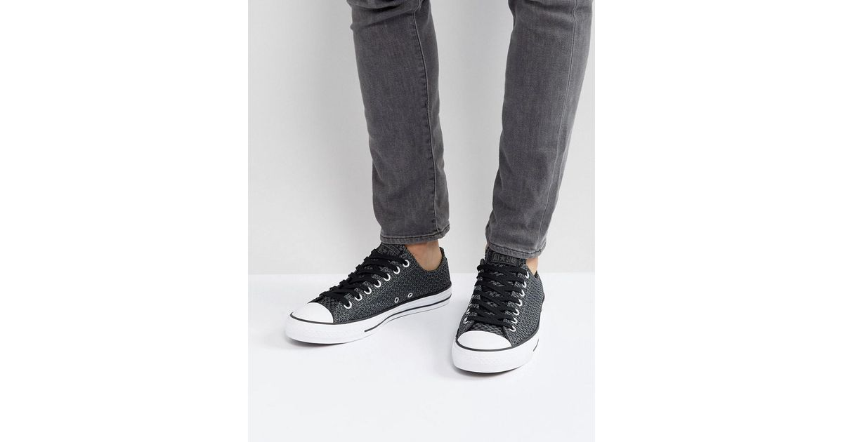 54bd3fc45c160d Lyst - Converse Chuck Taylor All Star Ox Plimsolls In Black 158258c in Black  for Men