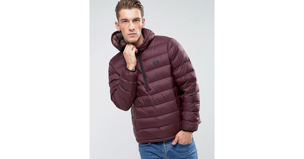 Abercrombie & Fitch Synthetic Down Jacket Hooded Overhead