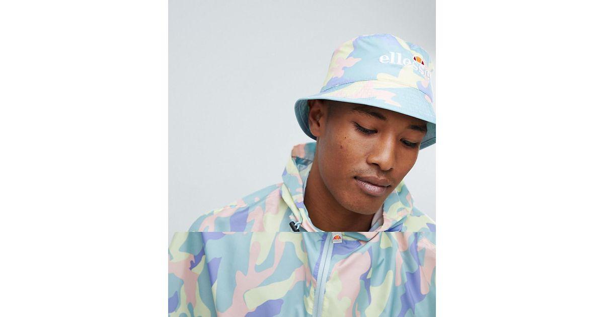 35aafb48f3a Lyst - Ellesse Binno Reversible Camo Bucket Hat in Blue for Men