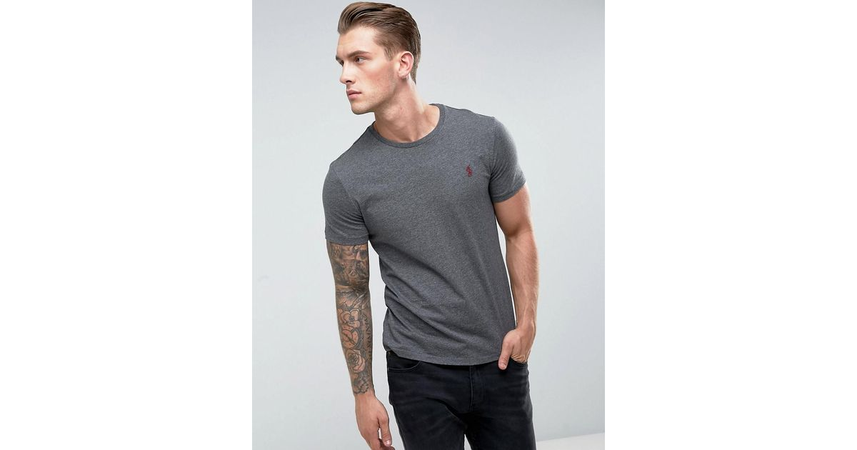 67cd53ad68919e Polo Ralph Lauren T-shirt Slim Fit In Charcoal Marl in Gray for Men - Lyst