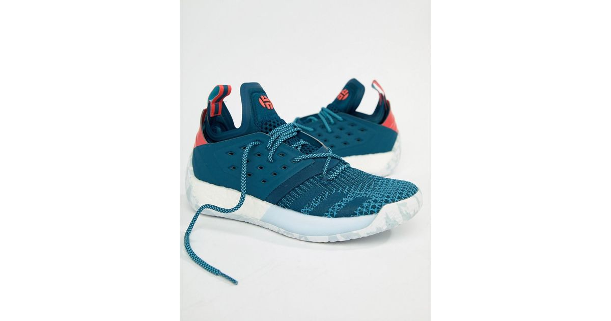 0f239762b44 Lyst - adidas Basketball X Harden Vol 2 All American Trainers In Blue Ah2216  in Blue for Men