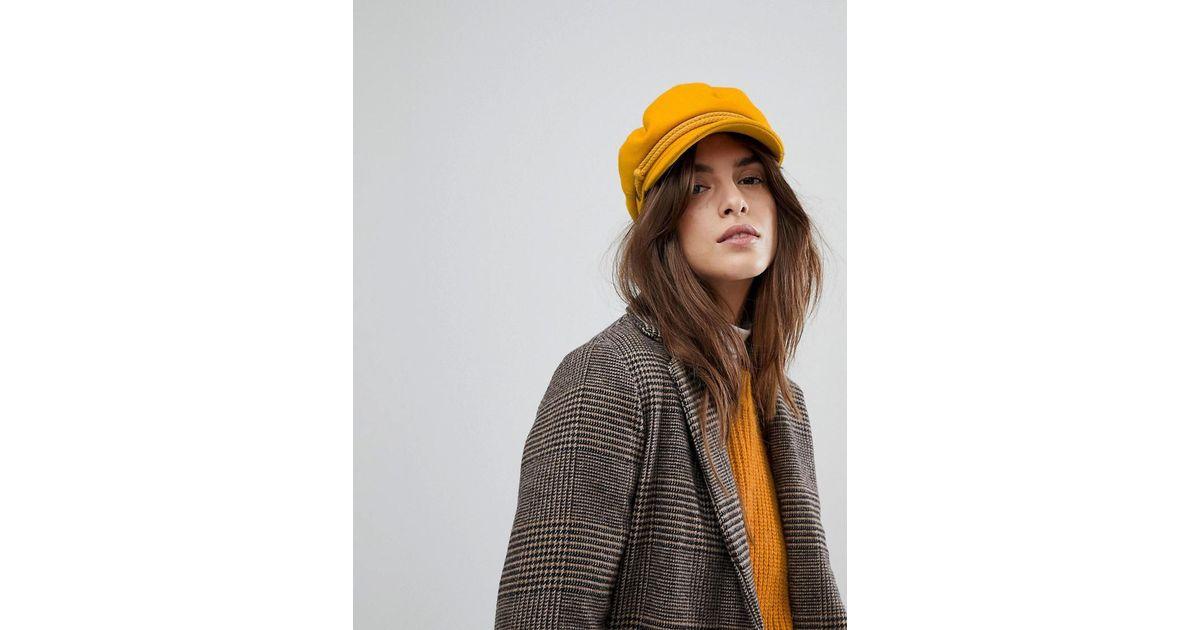 Brixton Baker Boy Hat In Mustard in Yellow - Lyst 5a719a9d8a2