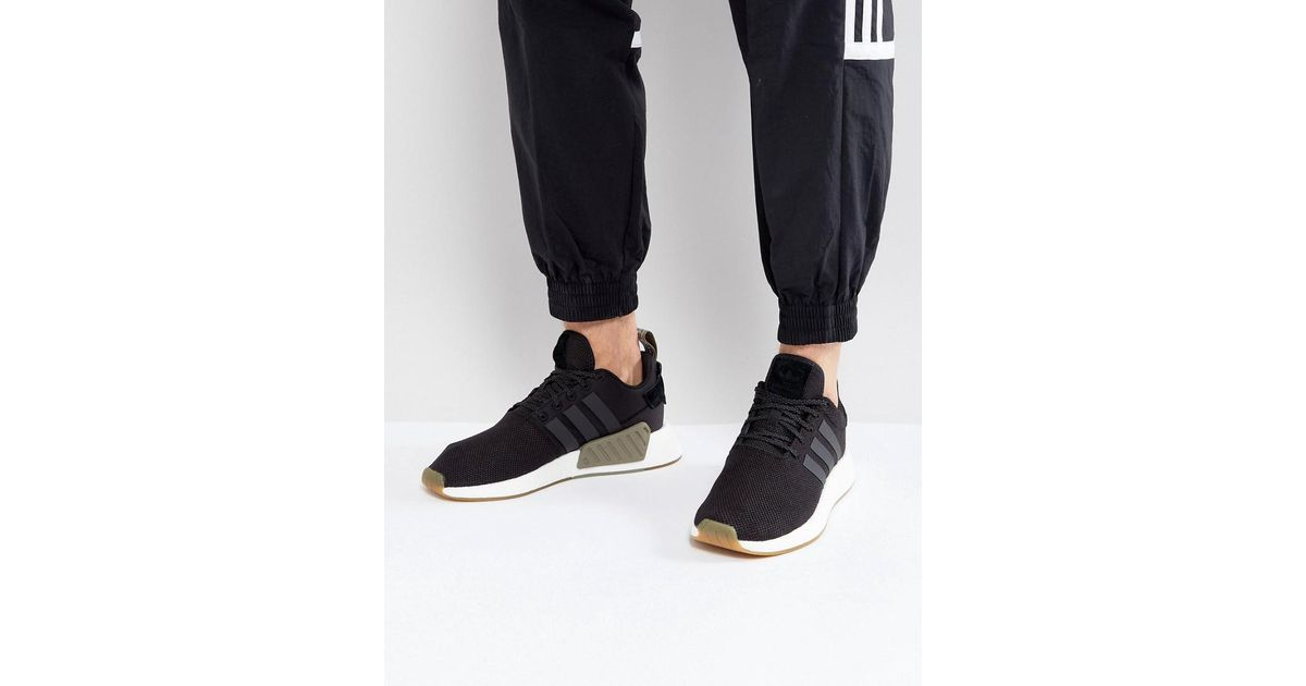 3de20df81c954 Lyst - adidas Originals Nmd R2 Trainers In Black By9917 in Black for Men