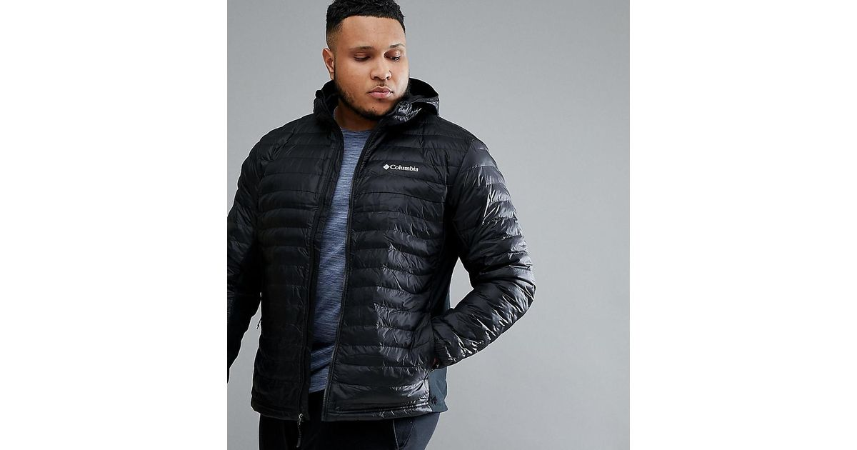 36639ab4 Columbia Plus Powder Lite Lightweight Hybrid Puffer Jacket Hooded In Black  in Black for Men - Lyst