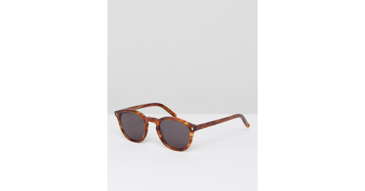 91395be738 Lyst - Monokel Eyewear Nelson Round Sunglasses In Amber in Brown for Men