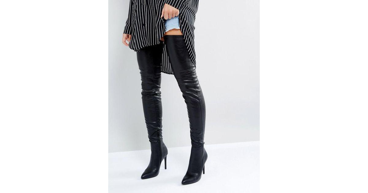 94c5985134b Lyst - Steve Madden Kristen Over The Knee Boots in Black
